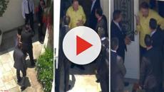 Globo flagra encontro de Silvio Santos e Jair Bolsonaro por via aérea