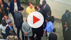 Silvio Santos recebe Bolsonaro em churrasco na sua mansão