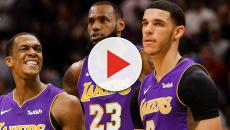 LeBron James talks about his and Lonzo Ball's historic night