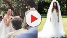 As famosas que arrasaram com seus vestidos de noiva em 2018