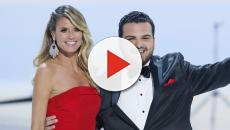 America's Got Talent: Heidi Klum takes a holiday spill for Sal Valentinetti