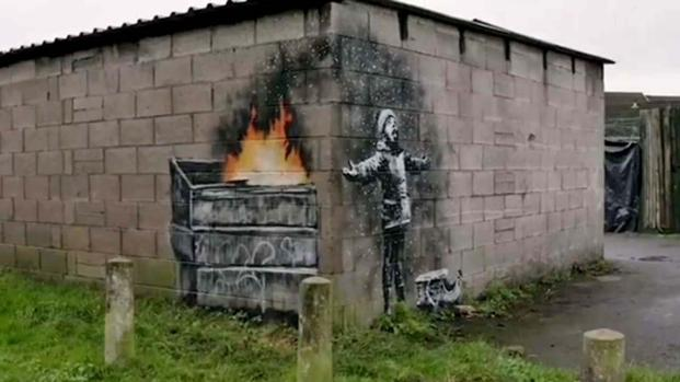 Banksy painting in Port Talbot, Wales speaks to the environment