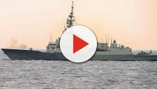VIDEO: La fragata 'Méndez Núñez' se integra con un portaaviones estadounidense