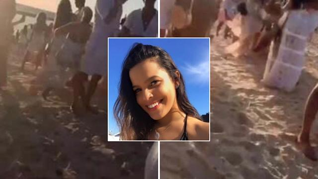 Ex-BBB Mayla Araújo teria apanhando em praia durante comemoração do ano novo