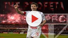 Hernanes reestreia com a camisa do São Paulo no jogo de hoje contra Eintracht