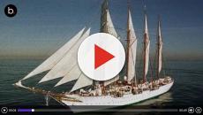 El buque Juan Sebastián Elcano homenajea la primera vuelta al mundo