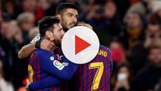 Doblete de Luis Suárez y gol 400 de Leo Messi para el triunfo del Barcelona