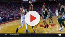 Nebraska basketball player reacts to Michigan State loss.