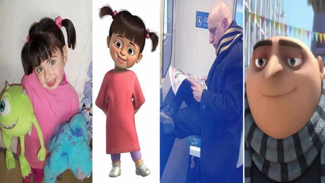 5 pessoas idênticas a personagens de desenhos animados