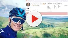 Chris Froome riprende a condividere i dati dei suoi allenamenti su Strava