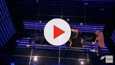 AGS: The Champions Week 3 - Heidi Klum participates in a gravity-defying act