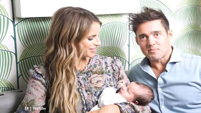Vogue Williams & Spencer Matthews went for a naming day for Theodore