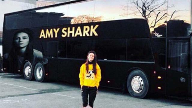 Amy Shark finds two illegal migrants in her tour bus on the way to the UK