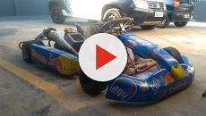 Vídeo mostra homem embriagado fugindo da polícia, de kart, pelas ruas do Paraná