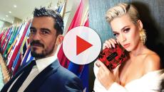 Katy Perry e Orlando Bloom exibem anel de diamante e deixam fãs animados