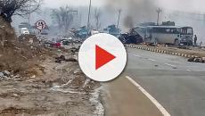 Kashmir terror attack: Rajnath Singh helps carry coffin of slain CRPF jawan