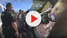 Prison inmates in Florida break into a car to rescue a toddler
