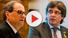 Puigdemont y Torra señalan a presidente del Parlamento Europeo de títere