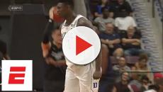 Duke star Zion Williamson suffers freak injury after shoe explodes
