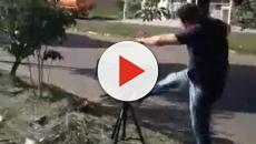Vice prefeito quebra radar e posta vídeo no Facebook