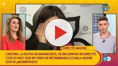 Cristina Pujol al ver a su hijo llora y acusa a María Patiño de mentir sobre su historia
