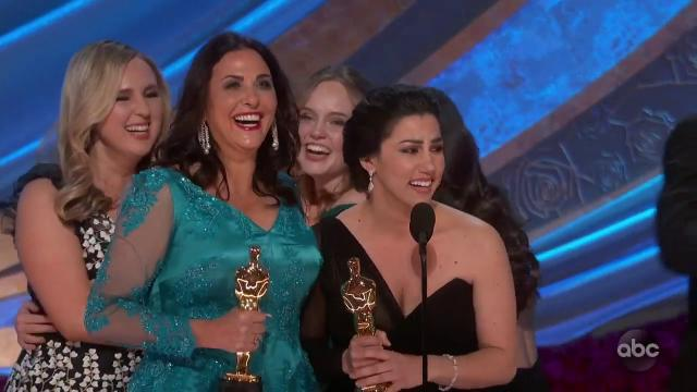 PERIOD. END OF SENTENCE wins the Oscar for Documentary Short