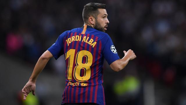 Le FC Barcelone officialise la prolongation de Jordi Alba jusqu'en 2024
