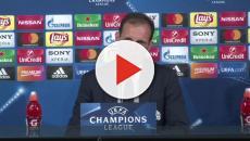 Cristiano Ronaldo yells at his manager, Massimilano Allegri