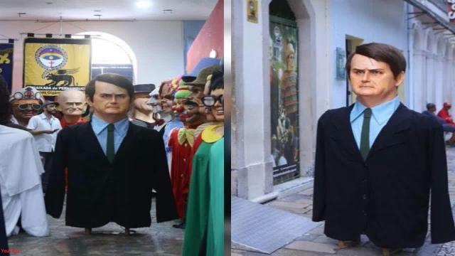 Boneco de Olinda do presidente Jair Bolsonaro