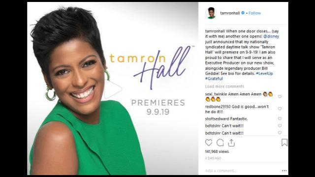 Tamron Hall, 48, surprises social media with news of marriage, first baby, and talk show