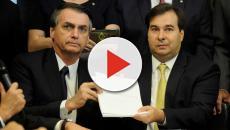 Jair Bolsonaro se reúne com Rodrigo Maia para tratar da Reforma da Previdência