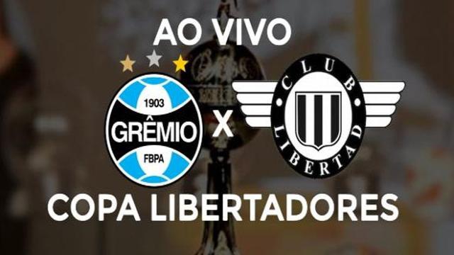Jogo entre Grêmio e Libertad será transmitido hoje ao vivo, às 21h30