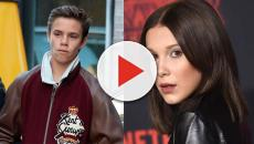 La actriz Millie Bobby Brown de Stranger Thinks y Romeo Beckham salen juntos