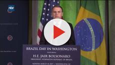 Em discurso nos EUA, Bolsonaro diz que conta com Trump para libertar Venezuela