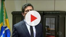 Ministro Sérgio Moro defende pacote anticrime, das críticas de Rodrigo Maia.