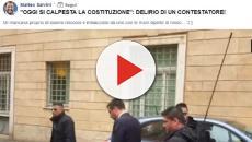 Salvini: rincorso da un manifestante con le mani colorate di rosso davanti al Senato