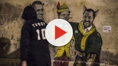 Murale a Roma: Conte è Pinocchio, Di Maio e Salvini il gatto e la volpe