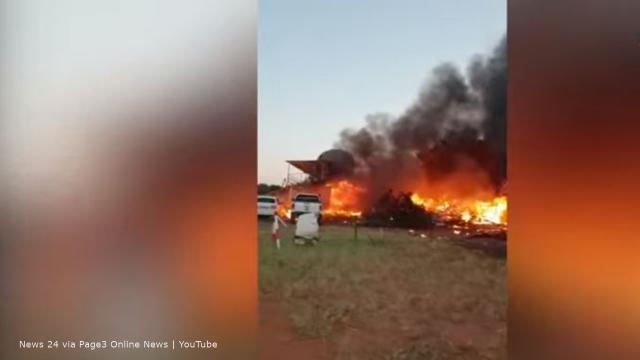 Botswana: A pilot crashed into a flying club where a baby shower was being held