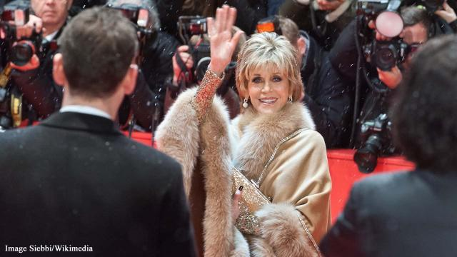 British Vogue features Jane Fonda as its oldest cover star in May