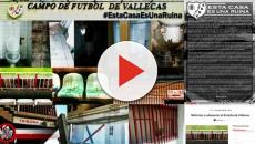 Las redes se llenan de quejas de los rayistas por el deterioro del Estadio de Vallecas