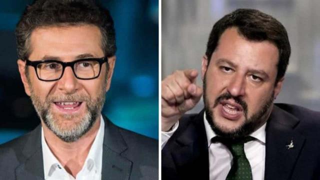 Salvini e Meloni contro Fabio Fazio: