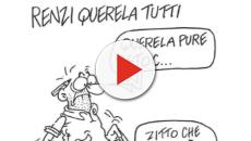 Il disegnatore Vauro Senesi risponde a Matteo Renzi con una vignetta