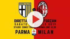 Parma-Milan: in vantaggio il Milan di Castillejo e poi il pareggio