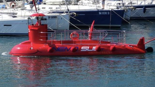 Il sommergibile Nemo permetterà le escursioni nei fondali marini