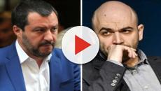 Roberto Saviano definisce Matteo Salvini un 'mediocre omino'