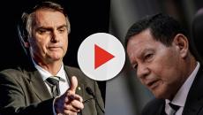 Jair Bolsonaro comenta atritos envolvendo o filho Carlos e o vice-presidente Mourão