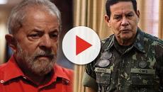 Em entrevista, Lula diz que Mourão é inimigo do Bolsonaro