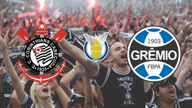 Corinthians x Grêmio: transmissão ao vivo a partir das 19h neste sábado (11)