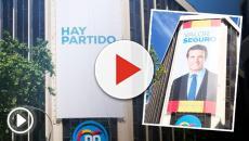 La imagen de Pablo Casado es eliminada de la sede del PP y sustituida por 'Hay partido'