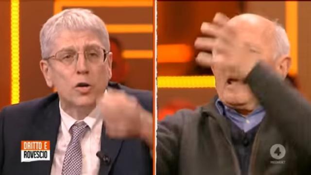 Mario Giordano litiga in TV con Don Rigoldi: 'Conosce il Vangelo, non il codice penale'